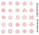 decorative pink isolated... | Shutterstock .eps vector #1365593105