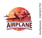 airplane colored label  logo...