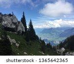 green pastures on a swiss...   Shutterstock . vector #1365642365
