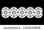 vintage cotton lace pattern ...   Shutterstock .eps vector #1365645848