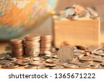 close up of thai coins on the... | Shutterstock . vector #1365671222