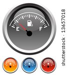 dashboard gas gauge icons in 4...