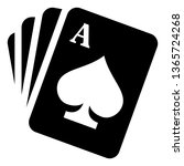playing cards vector icon | Shutterstock .eps vector #1365724268