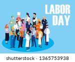 labour day celebration with... | Shutterstock .eps vector #1365753938