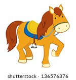 illustration of a horse | Shutterstock . vector #136576376