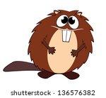 illustration of a beaver | Shutterstock . vector #136576382