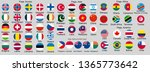 set of flags of world sovereign ... | Shutterstock .eps vector #1365773642
