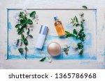 natural organic cosmetics ... | Shutterstock . vector #1365786968