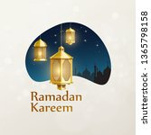 ramadan kareem background place ... | Shutterstock .eps vector #1365798158
