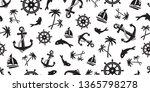anchor seamless pattern vector...   Shutterstock .eps vector #1365798278