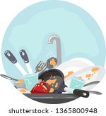 illustration of household... | Shutterstock .eps vector #1365800948