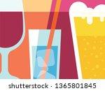 abstract beverages design in... | Shutterstock .eps vector #1365801845