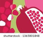 abstract fruit design in flat... | Shutterstock .eps vector #1365801848