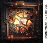 cog wheels and gears industrial ... | Shutterstock . vector #136581956