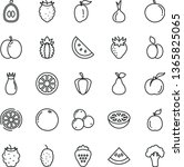 thin line vector icon set  ...   Shutterstock .eps vector #1365825065