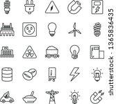 thin line vector icon set  ... | Shutterstock .eps vector #1365836435
