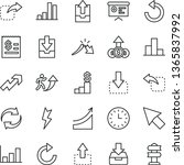 thin line vector icon set  ... | Shutterstock .eps vector #1365837992