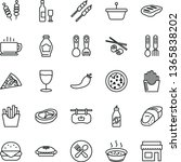 thin line vector icon set  ... | Shutterstock .eps vector #1365838202
