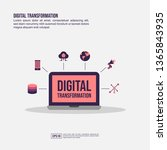 digital transformation concept... | Shutterstock .eps vector #1365843935