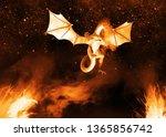 digital rendered dragon with...   Shutterstock . vector #1365856742