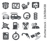 gps and navigation icons set 01.... | Shutterstock .eps vector #136586438