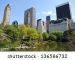 the pond at central park  new... | Shutterstock . vector #136586732