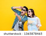 happy excited young asian... | Shutterstock . vector #1365878465