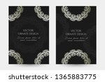 silver classical motif. luxury... | Shutterstock .eps vector #1365883775