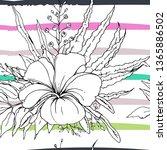 tropical  modern stripes motif. ...   Shutterstock .eps vector #1365886502