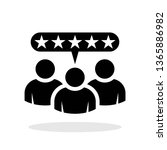 customer review icon in trendy...