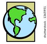 earth planet | Shutterstock .eps vector #1365951
