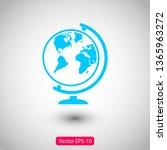 globe vector icon | Shutterstock .eps vector #1365963272