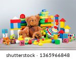 toys collection isolated on ... | Shutterstock . vector #1365966848