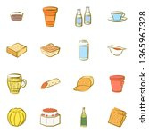 food images. background for... | Shutterstock .eps vector #1365967328