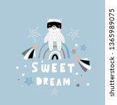 sweet dream creative lettering... | Shutterstock .eps vector #1365989075