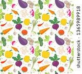 seamless pattern from fresh... | Shutterstock .eps vector #1365989918