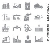 industry icons. set 2. gray... | Shutterstock .eps vector #1365990212