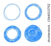 hand drawn circle line sketch... | Shutterstock .eps vector #1366013702