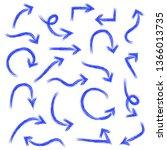 hand drawn arrow set ... | Shutterstock .eps vector #1366013735