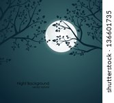 Vector Night Background With...