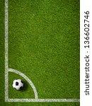 Soccer Ball In Corner Kick...