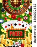 casino poker gambling wheel of... | Shutterstock .eps vector #1366032632