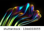 iridescent squeezed shape.... | Shutterstock .eps vector #1366033055