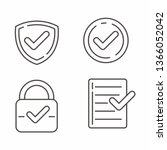 set of verified icon with... | Shutterstock .eps vector #1366052042