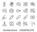 neurology line icon set.... | Shutterstock .eps vector #1366056155