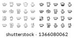 coffee types and tea icons. set ... | Shutterstock .eps vector #1366080062