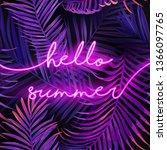 hello summer typography banner...   Shutterstock .eps vector #1366097765