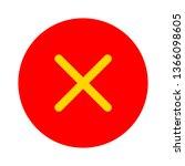 delete icon   no sign  close... | Shutterstock .eps vector #1366098605