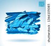 blue brush stroke and texture.... | Shutterstock .eps vector #1366105085