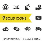 cryptocurrency icons set with...